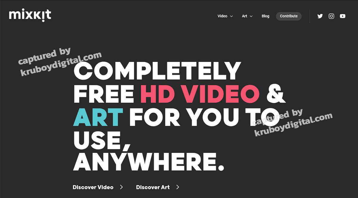 17 เว็บไซต์แจกฟรีวิดีโอคลิป สำหรับทำ VDO Content โหลดด่วน! 14